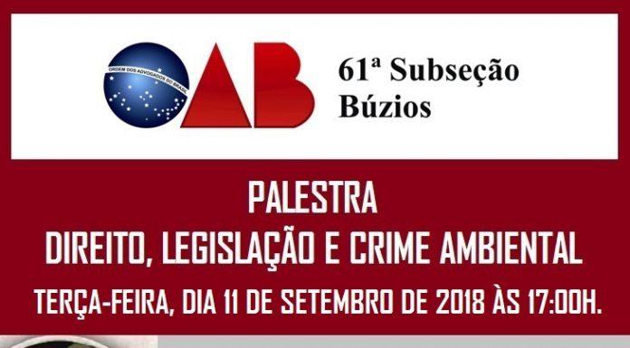 Palestra: Direito, Legislação e Crime Ambietal